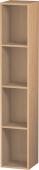 Duravit L-Cube - Elément étagère vertical 180 x 1000 x 180 mm avec 4 compartiments chêne brossé placage bois