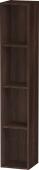Duravit L-Cube - Elément étagère vertical 180 x 1000 x 180 mm avec 4 compartiments châtaignier foncé