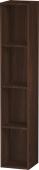 Duravit L-Cube - Elément étagère vertical 180 x 1000 x 180 mm avec 4 compartiments noyer brossé placage bois
