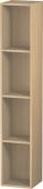 Duravit L-Cube - Elément étagère vertical 180 x 1000 x 180 mm avec 4 compartiments chêne méditerranéen placage bois