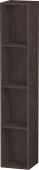 Duravit L-Cube - Elément étagère vertical 180 x 1000 x 180 mm avec 4 compartiments chêne foncé brossé placage bois