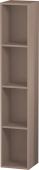 Duravit L-Cube - Elément étagère vertical 180 x 1000 x 180 mm avec 4 compartiments capuccino brillant