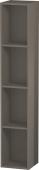 Duravit L-Cube - Elément étagère vertical 180 x 1000 x 180 mm avec 4 compartiments gris flanelle brillant