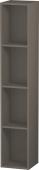 Duravit L-Cube - Elément étagère vertical 180 x 1000 x 180 mm avec 4 compartiments gris flanelle satiné mat