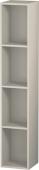 Duravit L-Cube - Elément étagère vertical 180 x 1000 x 180 mm avec 4 compartiments taupe