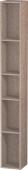 Duravit L-Cube - Elément étagère vertical 180 x 1400 x 180 mm avec 5 compartiments chêne cachemire