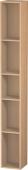 Duravit L-Cube - Elément étagère vertical 180 x 1400 x 180 mm avec 5 compartiments chêne brossé placage bois