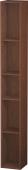Duravit L-Cube - Elément étagère vertical 180 x 1400 x 180 mm avec 5 compartiments noyer américain placage bois