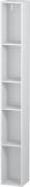 Duravit L-Cube - Elément étagère vertical 180 x 1400 x 180 mm avec 5 compartiments blanc mat