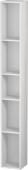 Duravit L-Cube - Elément étagère vertical 180 x 1400 x 180 mm avec 5 compartiments blanc brillant