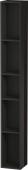 Duravit L-Cube - Elément étagère vertical 180 x 1400 x 180 mm avec 5 compartiments noir brillant