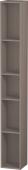 Duravit L-Cube - Elément étagère vertical 180 x 1400 x 180 mm avec 5 compartiments basalte mat