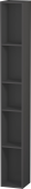 Duravit L-Cube - Elément étagère vertical 180 x 1400 x 180 mm avec 5 compartiments graphite mat