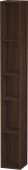 Duravit L-Cube - Elément étagère vertical 180 x 1400 x 180 mm avec 5 compartiments noyer brossé placage bois