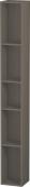 Duravit L-Cube - Elément étagère vertical 180 x 1400 x 180 mm avec 5 compartiments gris flanelle satiné mat