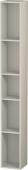 Duravit L-Cube - Elément étagère vertical 180 x 1400 x 180 mm avec 5 compartiments taupe