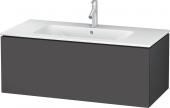 Duravit L-Cube - Meuble sous-vasque 1020 x 400 x 481 mm avec 1 tiroir graphite mat