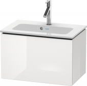 Duravit L-Cube - Meuble sous-vasque compacte 620 x 400 x 391 mm avec 1 tiroir blanc brillant