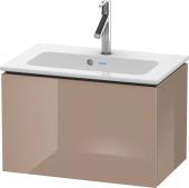 Duravit L-Cube - Meuble sous-vasque compacte 620 x 400 x 391 mm avec 1 tiroir capuccino brillant
