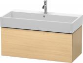Duravit L-Cube - Meuble sous-vasque 984 x 394 x 481 mm avec 1 tiroir chêne méditerranéen placage bois