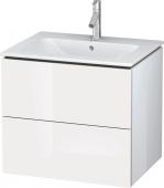 Duravit L-Cube - Meuble sous-vasque 620 x 550 x 481 mm avec 2 tiroirs blanc brillant