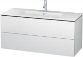 Duravit L-Cube - Meuble sous-vasque 1220 x 550 x 481 mm avec 2 tiroirs blanc mat