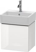 Duravit L-Cube - Meuble sous-vasque 434 x 400 x 341 mm avec 1 porte & charnières de portes à gauche blanc brillant