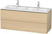 Duravit L-Cube - Meuble sous-vasque 1290 x 550 x 481 mm avec 2 tiroirs chêne méditerranéen placage bois