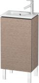Duravit L-Cube - Meuble sous-vasque 420 x 704 x 294 mm avec 1 porte & charnières de portes à gauche chêne cachemire
