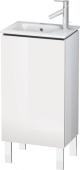 Duravit L-Cube - Meuble sous-vasque 420 x 704 x 294 mm avec 1 porte & charnières de portes à gauche blanc brillant