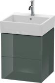 Duravit L-Cube - Meuble sous-vasque 484 x 544 x 459 mm avec 2 tiroirs gris dolomite brillant