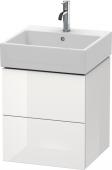 Duravit L-Cube - Meuble sous-vasque 484 x 544 x 459 mm avec 2 tiroirs blanc brillant