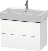 Duravit L-Cube - Meuble sous-vasque 784 x 544 x 459 mm avec 2 tiroirs blanc mat