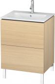 Duravit L-Cube - Meuble sous-vasque 620 x 704 x 481 mm avec 2 tiroirs chêne méditerranéen placage bois