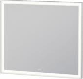 Duravit L-Cube - Spiegel mit LED-Beleuchtung weiß aluminium / verspiegelt Masszeichnung