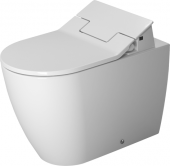 Duravit ME by Starck - Stand-Tiefspül-WC 600 x 370 mm für SensoWash back to wall m. WonderGliss weiß