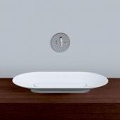 Alape SB - Lavabo à poser pour meuble 700x400mm sans trous de robinetterie sans trop-plein  blanc sans revêtement