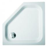 Bette BetteCaro ohne Schürze - 5 Corner bac à douche BetteGlacer Plus & antidérapant beige - 100 x 100