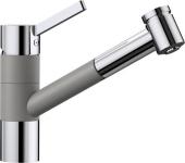 Blanco Tivo-S - Küchenarmatur Silgranit-Look zweifarbig Hochdruck alumetallic/chrom