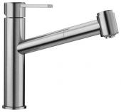 Blanco Ambis-S - Küchenarmatur metallische Oberfläche Hochdruck Edelstahl gebürstet