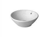 DURAVIT Bacino - Lavabo à poser pour meuble 420x420mm sans trous de robinetterie avec trop-plein blanc sans WonderGliss
