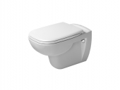 Duravit D-Code - Wand-Tiefspül-WC 540 x 355 mm rimless mit WC-Sitz und soft-close weiß WC