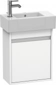 Duravit Ketho - Meuble sous-vasque 450 x 550 x 225 mm avec 1 porte & charnières de portes à droite blanc mat