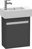 Duravit Ketho - Meuble sous-vasque 450 x 550 x 225 mm avec 1 porte & charnières de portes à droite graphite mat