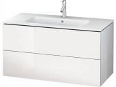 Duravit L-Cube - Meuble sous-vasque 1020 x 550 x 481 mm avec 2 tiroirs blanc brillant