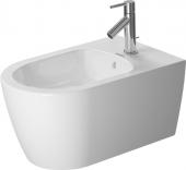 Duravit ME by Starck - Wand-Bidet 570 mm mit Überlauf mit Hahnloch weiß seidenmatt WonderGliss