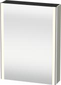 Duravit XSquare - SPS mit Beleuchtung 800x600x155 taupe seidenmatt Türanschlag links