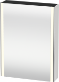 Duravit XSquare - SPS mit Beleuchtung 800x600x155 weiß Türanschlag links