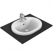 Ideal Standard Connect - Vasque à encastrer par le dessus pour meuble 550x430mm avec 1 trou de robinetterie avec trop-plein blanc sans IdealPlus