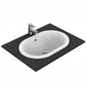 Ideal Standard Connect - Vasque à encastrer par le dessus pour meuble 620x410mm sans trous de robinetterie avec trop-plein blanc avec IdealPlus